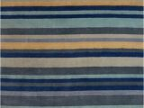 Rugs Yellow and Blue Ainslie 03 Stripe Rugs In Blue Yellow Capitalrugsuk Free