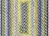 Rugs Yellow and Blue Homespice Cotton Braids Rectangle Sunflowers area Rugs