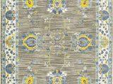 Rugs Yellow and Blue oriental Weavers Joli 503d Grey Yellow area Rug