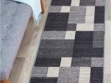 """Rugshop Contemporary Modern Boxes area Rug Modern Boxes Design Non Slip Non Skid area Rug Runner 2 X 7 22"""" X 84"""" Gray"""