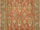 Rust and Blue area Rugs Famous Maker Sultanabad P 1 Rust Light Blue area Rug