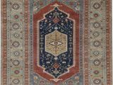 Rust and Blue area Rugs oriental Hand Knotted Wool Rust Light Blue area Rug