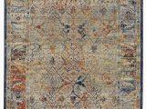 Rust and Gray area Rug Trinity Cotton Gray area Rug
