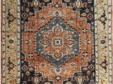 Rust Colored 8×10 area Rug 8 X 10 Transitional Rust orange Black and Beige Color