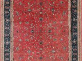 Rust Colored 8×10 area Rug All Over Rust Red Floral Peshawar oriental Hand Knotted 8×10