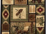 Rustic Cabin Lodge area Rugs Rugs 4 Less Collection Rustic Western and Native American Wildlife and Wilderness Cabin Lodge Accent area Rug R4l 386 2×3