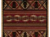 """Rustic Lodge Style area Rugs Lodge King Red Pine Rustic southwest area Rug 7 10""""x9 10"""""""