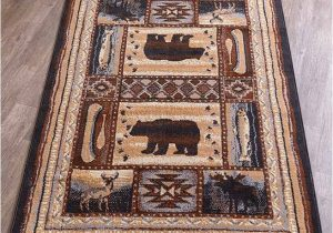 Rustic Log Cabin area Rugs Details About Lodge Accent Runner area Rug Log Cabin Brown Bear Rustic Living Room Home Decor