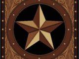 "Rustic Texas Star area Rugs 5×8 5 3"" X 7 2"" Texas Star Rustic Cowboy Western Brown"