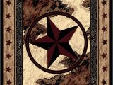 Rustic Texas Star area Rugs American Dakota Great Stateof Mind Ranger Hideout Brown area