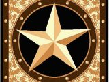 "Rustic Texas Star area Rugs Furnish My Place Texas Western Star Rustic Cowboy Decor area Rug 60"" L Gold Brown Black"
