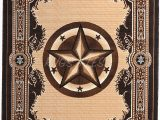 Rustic Texas Star area Rugs Rugs 4 Less Collection Texas Lone Star State Novelty area Rug Chocolate Brown 723 5 X7