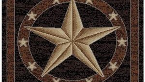 Rustic Texas Star area Rugs Rustic Western Texas Star Pattern area Rug Featuring Geometric Revolving Stars themed Runner Indoor Hallway Doorway Living area Bedroom Cabin