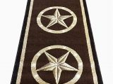 Rustic Texas Star area Rugs Texas Star Long Runner Lone Star area Rug Dark Brown Design 5457 32 Inches X15 Feet 10 Inches