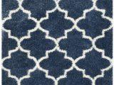 Safavieh Blue and Ivory Rug Blue & White soft Shag Safavieh