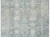 Safavieh Blue and Ivory Rug Safavieh Illusion Blue and Ivory 4 X 4 Square area Rug