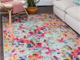 Safavieh Daley Geometric Plush Shag area Rug Cortez Art Deco Multi Color Rug In 2020