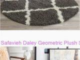 Safavieh Daley Geometric Plush Shag area Rug Safavieh Daley Geometric Plush Shag Round area Rug Risingsun