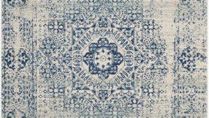 Safavieh Evoke Ivory Blue Rug 8×10 Evoke Collection 8 X 10 Rug In Ivory and Blue Safavieh Evk260c 8