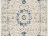 Safavieh Evoke Vintage Ivory Blue Distressed Rug Evoke Jaime Ivory Blue 3 Ft X 5 Ft Indoor area Rug