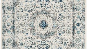 Safavieh Evoke Vintage Ivory Blue Distressed Rug Rug Evk220d Evoke area Rugs by Safavieh