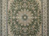 Sage Green area Rug 5×7 Feraghan New City Traditional isfahan Wool Persian area Rug 4 Round Sage Green