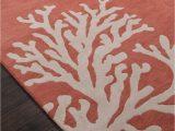 Salmon Colored Bath Rugs Coastal Seaside Coral Rug Apricot