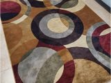 Sam S Club Indoor area Rugs Tayse Festival area Rugs 8740 Transitional Casual Multi Circles Rings Shapes Rug