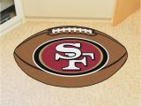 San Francisco 49ers area Rugs San Francisco 49ers 22×35 Football Interior Rug