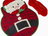 Santa Claus Bathroom Rugs 3 Piece Christmas Santa Claus Bathroom Rug Set Walmart