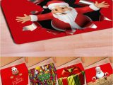 Santa Claus Bathroom Rugs 40 X 60cm Non Slip Doormat Christmas Style Santa Claus