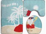 Santa Claus Bathroom Rugs Pudmad Christmas Santa Claus In Beach 3 Piece Bathroom