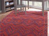 Santa Fe Style area Rugs Red orange Blue southwest Santa Fe Pattern Wool area Rug