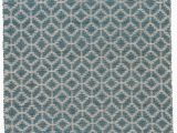 Saville Row Bath Rugs Caprice Geometric Handmade Blue area Rug