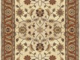 Seaside Collection area Rug Parchment Multi Surya Crowne Classic Hand Tufted Wool Parchment 4 X 6 Traditional area Rug