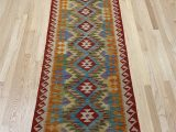 """Secure area Rug to Carpet E Of A Kind Hand Knotted Red 2 8"""" X 9 7"""" Runner Wool area Rug"""