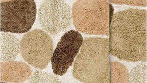 """Set Of Bathroom Rugs Chesapeake Pebbles 2pc Khaki Bath Rug Set 21""""x34"""" & 24""""x40"""""""