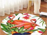 Seventh Avenue Com area Rugs Pictures Flamingo and Bird Pattern Anti Skid Round Floor Rug