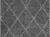 """Shanna Off White area Rug Nuloom 200ozez04b 508 Shanna Shaggy area Rug 5 3"""" X 7 6"""" Grey"""