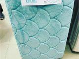 Shell Shaped Bath Rug Mermaid Memory Foam Bath Mat From Primark Uk