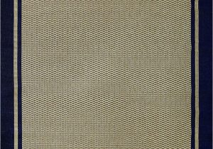 Sisal Rug with Blue Border Furman Collection Sisal Woven Navy Blue Border Rug 9×12 X