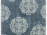 Slate Blue Bath Rugs Flemington Floral Slate Blue area Rug
