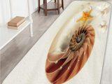 Slip Resistant Bath Rugs Shell Snail Slip Resistant Beach Bathroom Rug Beach
