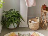 Small Bathroom Rugs and Mats Calisa Block Printed Rug In 2020