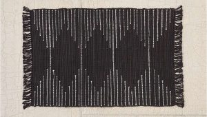Small Black Bathroom Rug Connected Stripe Rag Rug with Images
