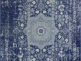 Small Blue area Rugs 3 X 5 Small Contemporary Dark Blue Rug Everek