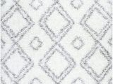 Soft and Plush area Rugs Cozy soft and Plush Moroccan White Shag area Rugs 5 Feet by 8 Feet 5 X 8
