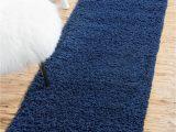 Solid Blue Runner Rug Sapphire Blue 2 6 X 10 solid Shag Runner Rug Rugs Com