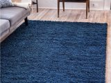 Solid Dark Blue area Rug solid Shag Sapphire Blue 5×8 area Rug In 2020