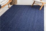 Solid Navy Blue Outdoor Rug 5 X 8 Braided Jute Rug